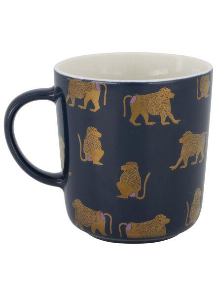 mug - 280 ml - Chicago - blue with monkey - 9602083 - hema