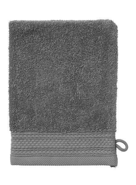 wash mitt - hotel extra thick - dark grey plain dark grey wash mitt - 5235015 - hema