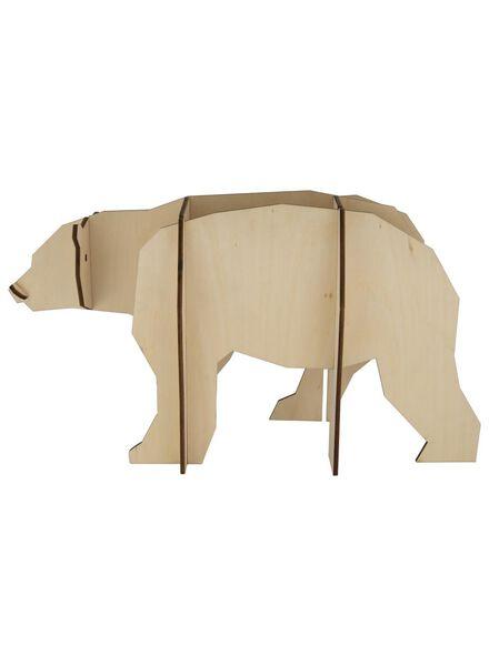 ours polaire en bois 45x18x27 - 25103059 - HEMA