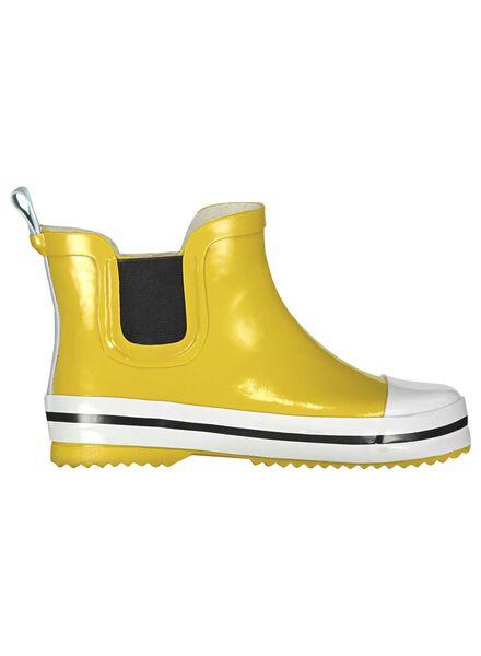 bottes de pluie enfants-modèle court - caoutchouc jaune jaune - 1000013741 - HEMA