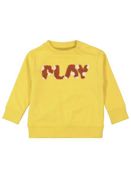 baby sweater yellow yellow - 1000017338 - hema
