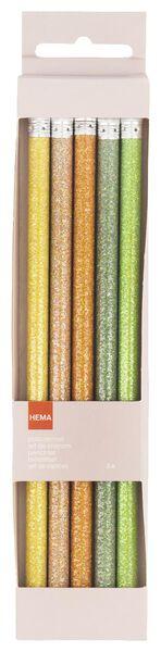 5er-Pack Bleistifte, Glitter - 14410029 - HEMA