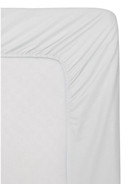drap-housse - coton doux - 90x220 cm - blanc - 5140016 - HEMA