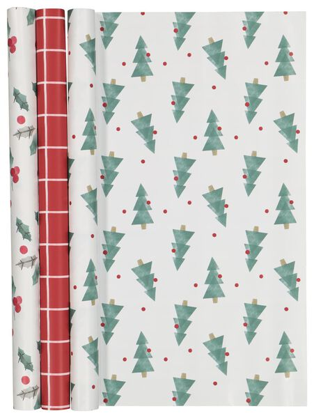 3 rolls gift wrapping paper 200x50 Christmas - 25700127 - hema