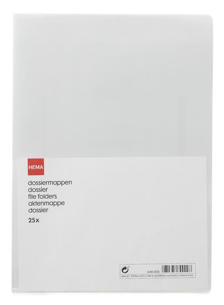 25er-Pack Aktenmappen, DIN A4 - 14822223 - HEMA
