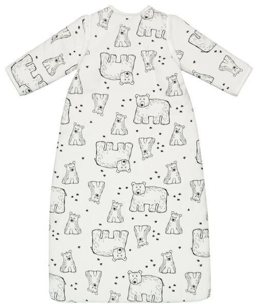 baby sleeping bag - padded - zip-off sleeves - bears white off-white off-white - 1000020003 - hema