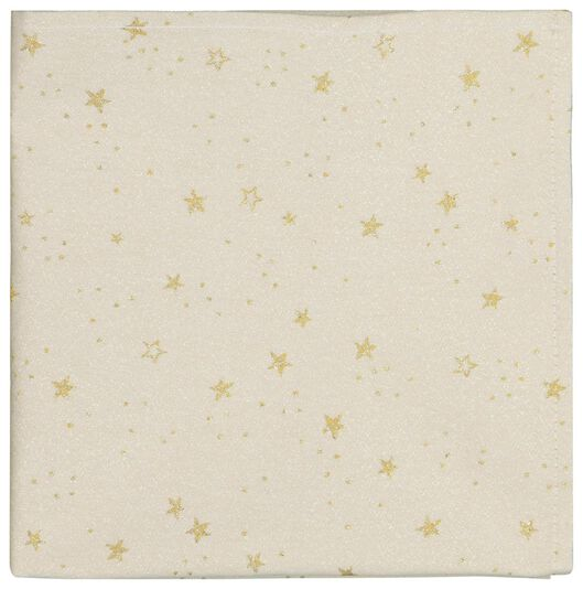 2 serviettes 47x47 cotton - gold stars - 25640019 - hema