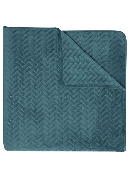 bedspread - 150 x 250 - velvet dark green 150 x 250 - 5710195 - hema