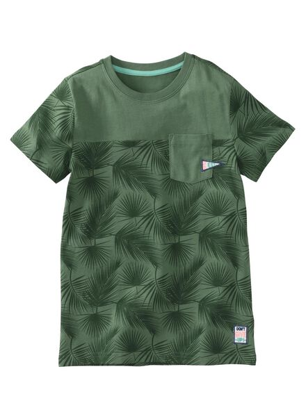 children's T-shirt dark green dark green - 1000007870 - hema