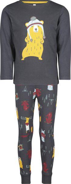 children's pyjamas anthracite anthracite - 1000017226 - hema