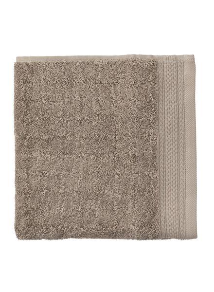 serviette de bain-50x100 cm-hôtel extra épais-taupe uni - 5240193 - HEMA