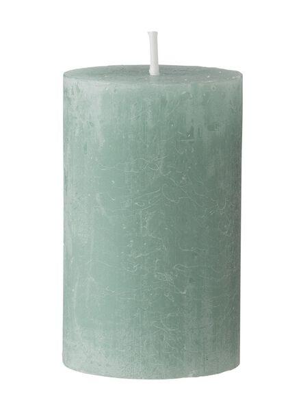rustieke kaars 8 x 5 cm - groen groen 5 x 8 - 13501940 - HEMA