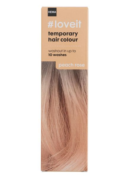 coloration cheveux temporaire peach rose - 11030002 - HEMA