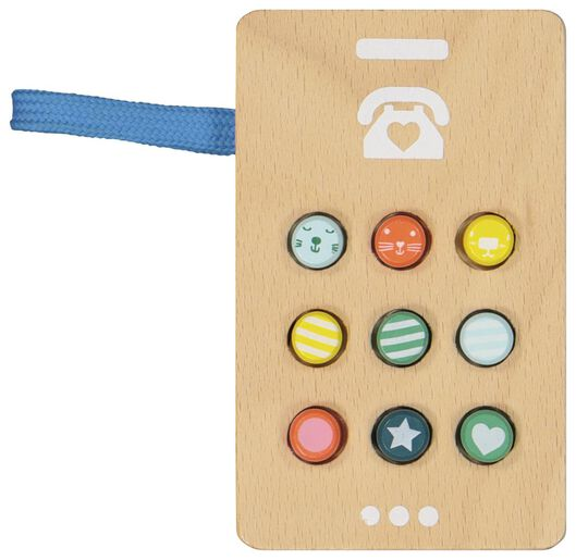 HEMA Téléphone Bois 11x6.5x2