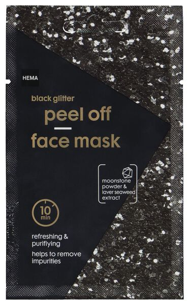 mask peel-off glitter black 10 ml - 17800301 - hema