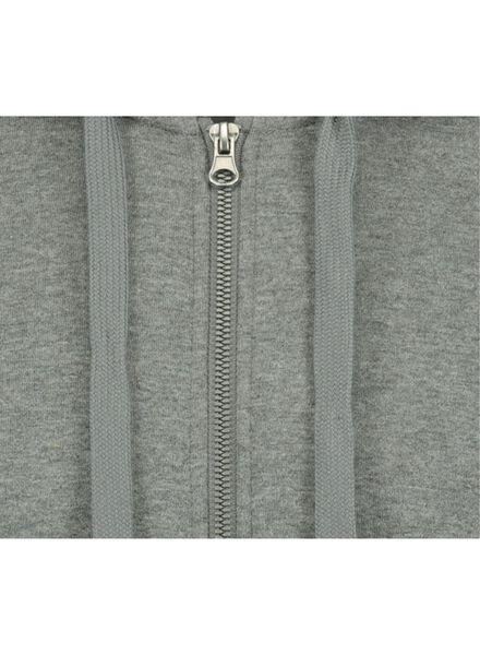 men's sweatshirt cardigan with a hood grey grey - 1000014298 - hema