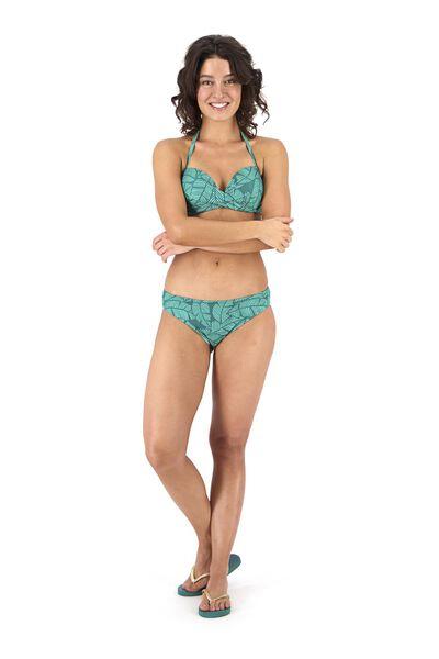 Bademode - HEMA Damen Bikinislip Grün  - Onlineshop HEMA