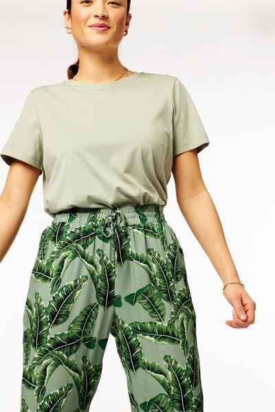 dames t-shirt lichtgroen lichtgroen - 1000023510 - HEMA
