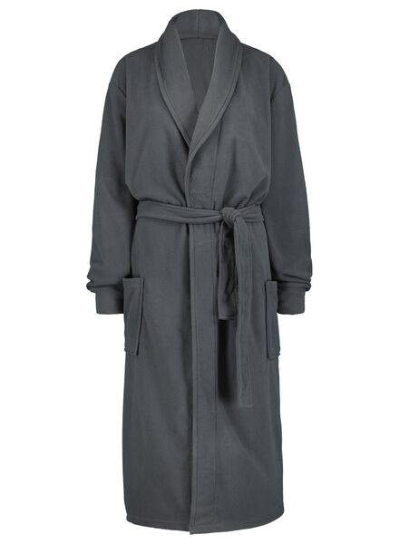 men's bathrobe dark grey dark grey - 1000014703 - hema