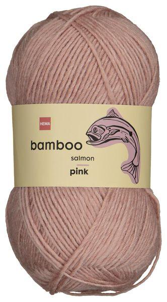 fil de laine bambou 100g rose - 1400226 - HEMA