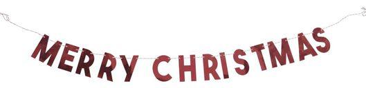Girlande, Papier, 2 m, Merry Christmas - 25104291 - HEMA