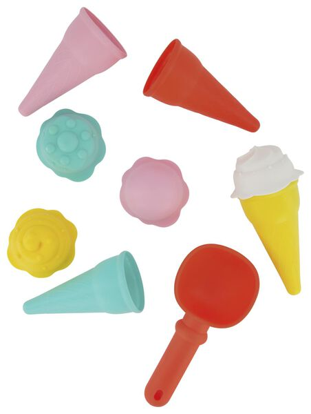 9 sand moulds ice cream cones - 15860030 - hema