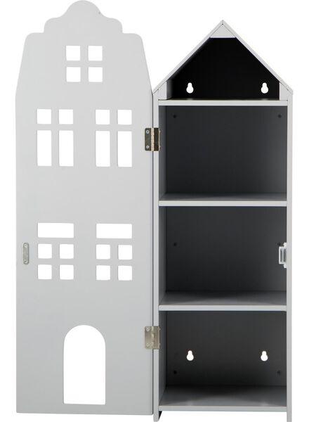 maison de canal en bois 24.5 x 25 x 75 - gris clair - 15190074 - HEMA