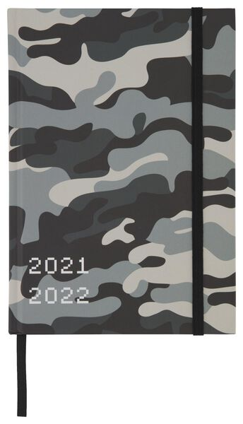 Schülerkalender 2021-2022, Tarnfleckenmuster, 21.4 x 15 cm - 14500537 - HEMA