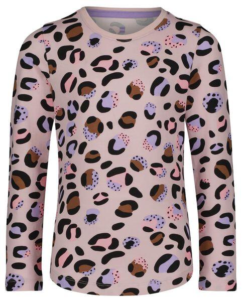 Kinder-Pyjama, Baumwolle/Elasthan, Leopard hellrosa hellrosa - 1000024671 - HEMA