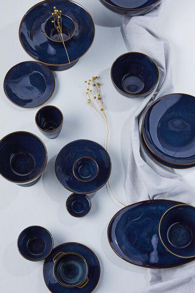 saladier haut - 30 cm - Porto - émail réactif - bleu foncé - 9602225 - HEMA
