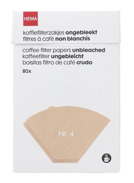 Papierfilter, ungebleicht, Nr. 4 - 20560203 - HEMA