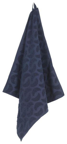 essuie-mains 50x50 coton - bleu croissant - 5400061 - HEMA
