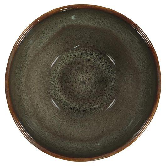 diep bord - 21 cm - Porto - reactief glazuur - taupe - 9602052 - HEMA