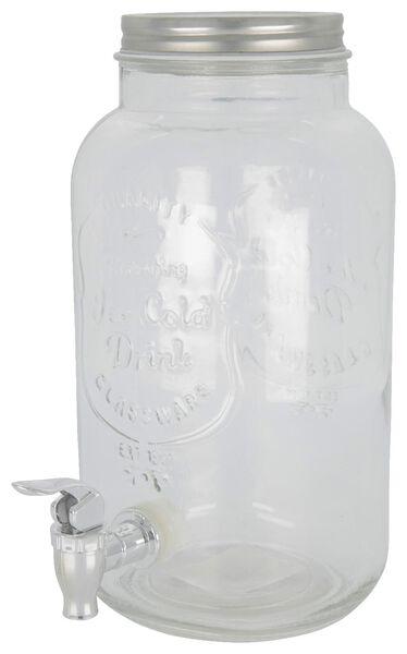 fontaine à limonade - verre - 3,8 litres - 41810142 - HEMA