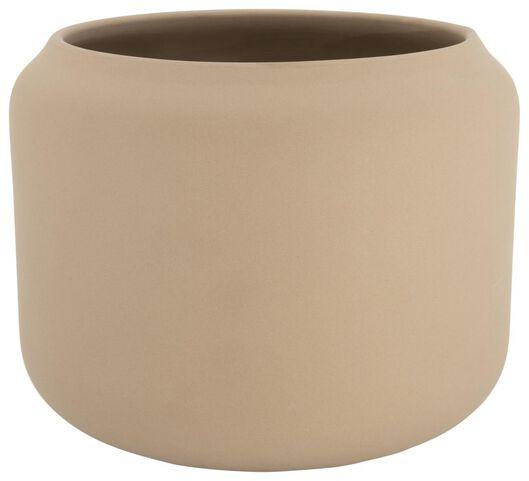 flowerpot Ø22x18 earthenware natural 22 x 18 light brown - 13311035 - hema