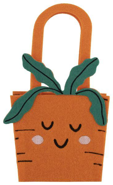 Image of HEMA Small Felt Bag Carrot Orange 12x12x7.5