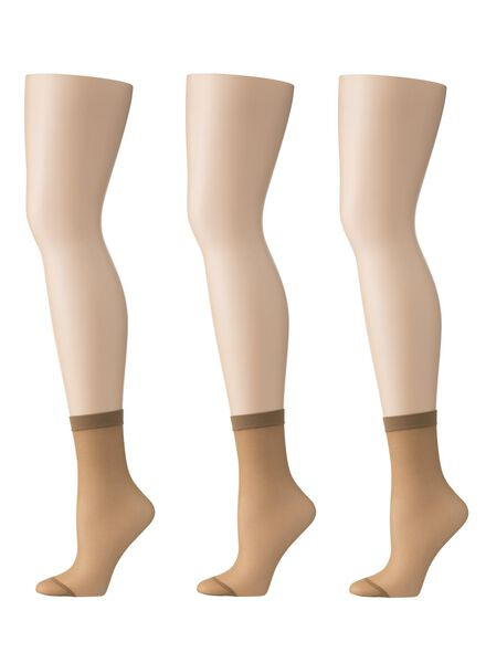 3-pack nylon knee-socks mat 20 denier - 4032255 - hema