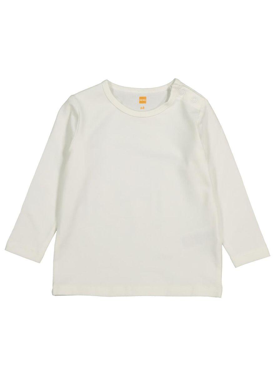 Hema Bamboe Jas.Baby T Shirt Met Bamboe Gebroken Wit