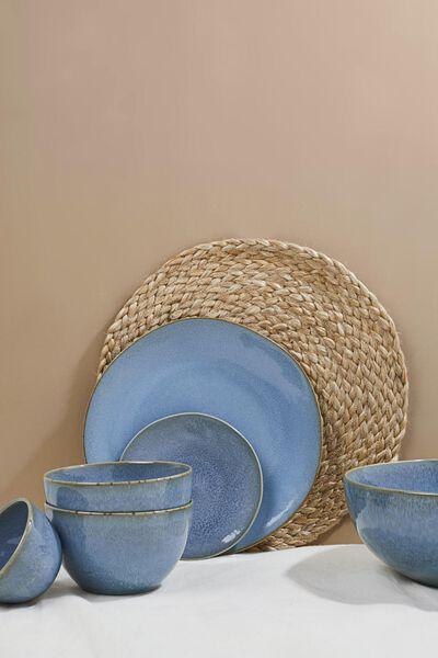 assiette à dessert - 16.5 cm - Porto - émail réactif - bleu - 9602024 - HEMA