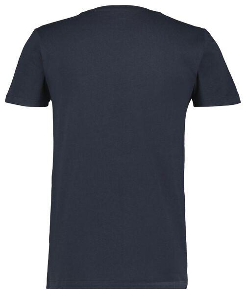 Herren-T-Shirt dunkelblau dunkelblau - 1000023459 - HEMA