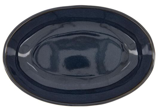 high bowl - 30 cm - Porto - reactive glaze - dark blue - 9602225 - hema