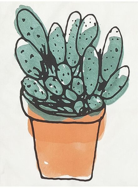 housse de couette-coton doux-200x200/220cm-blanc cactus multi 200 x 220 - 5700166 - HEMA