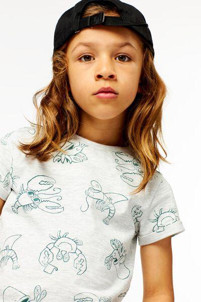 Kinder-T-Shirt, Krebse graumeliert graumeliert - 1000024291 - HEMA