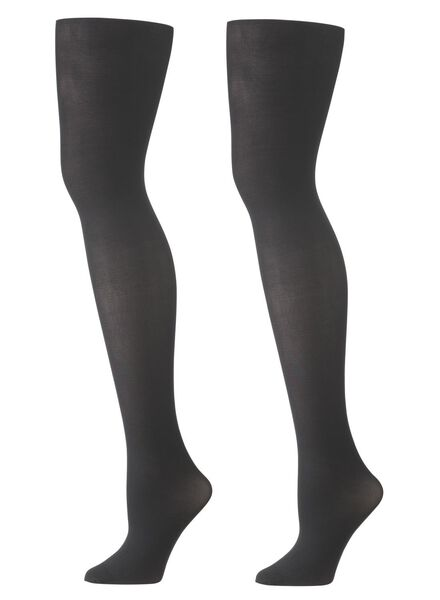 2 collants 40 deniers noir noir - 1000001140 - HEMA