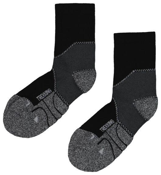 2-pack hiking socks black black - 1000018715 - hema