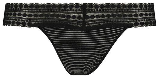 string femme en coton noir/blanc noir/blanc - 1000018662 - HEMA