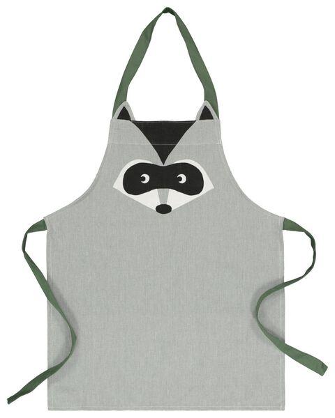 kitchen apron for children cotton - grey - 5410114 - hema