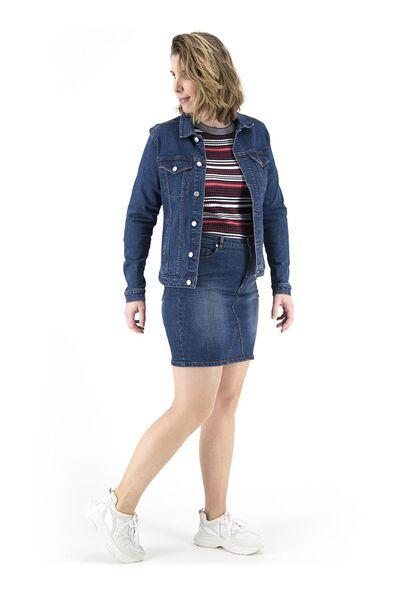 veste jean femme bleu moyen bleu moyen - 1000018279 - HEMA