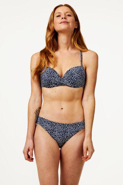 Damen-Bikinislip, recycelt, Animal dunkelblau dunkelblau - 1000023164 - HEMA