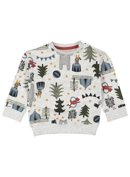 Baby-Sweatshirt graumeliert graumeliert - 1000016890 - HEMA